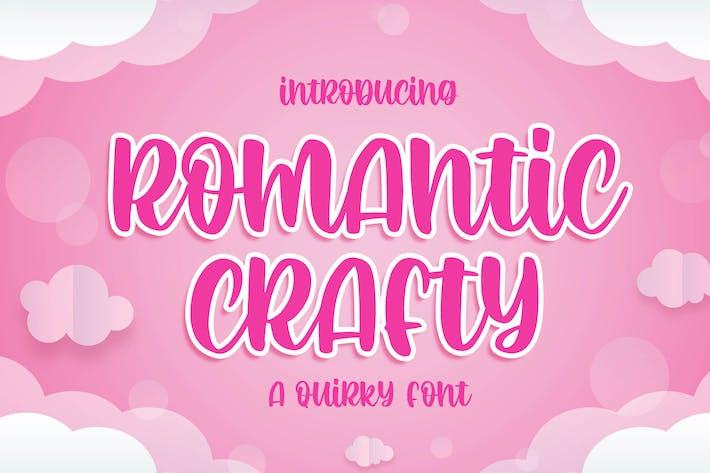 Romantic Crafty - une police excentrique