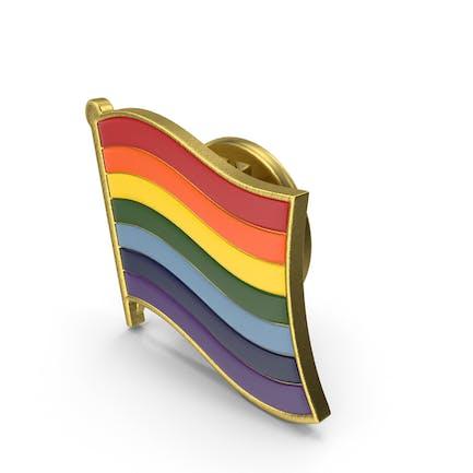 Pin de solapa con bandera del orgullo gay