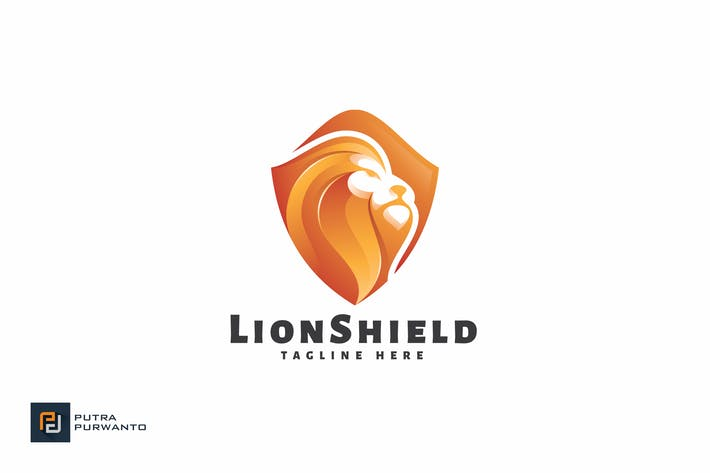 Thumbnail for Lion Shield - Logo Template