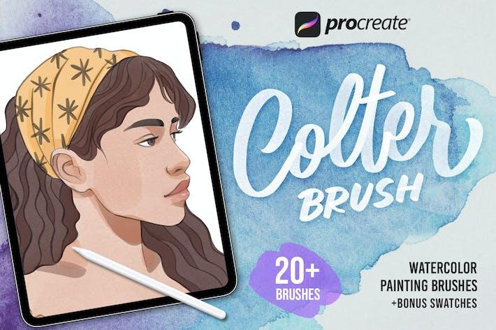 Кисть Colter Procreate - Акварель
