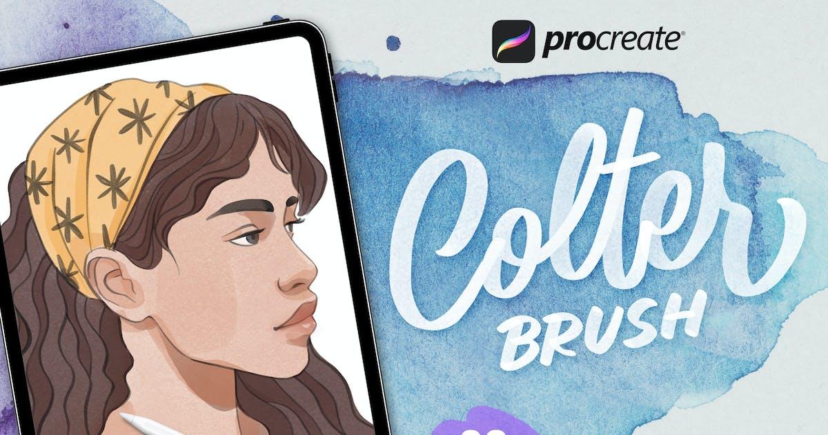 Download Procreate Colter Brush - Watercolor by RakataStudio