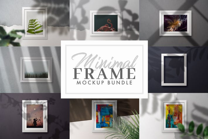 Thumbnail for 9 Frame Mock-ups mit Schatten-Overlays