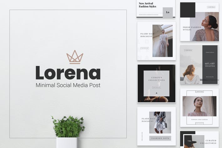 Thumbnail for LORENA Fashion Instagram & Facebook Post