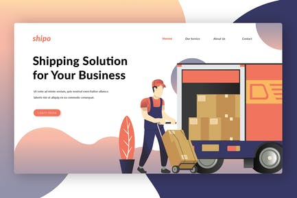 Решения по доставке - Landing Page