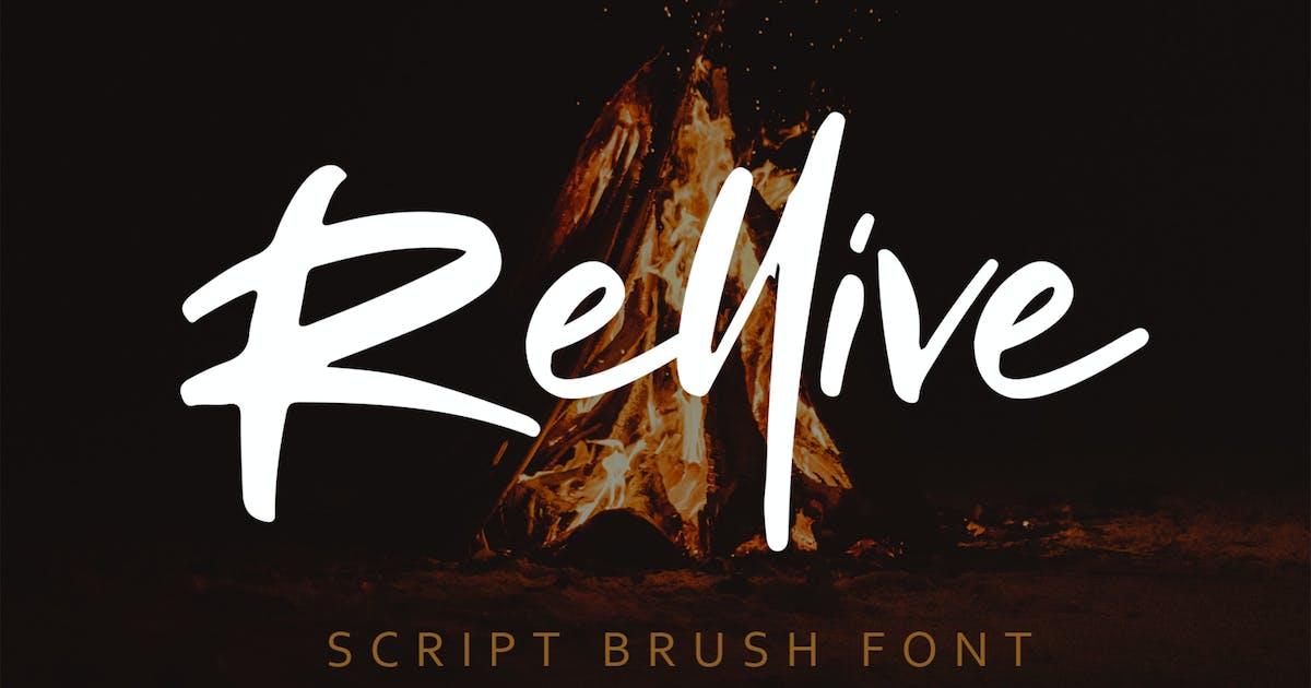 Download Rellive Brush Script Font by arendxstudio