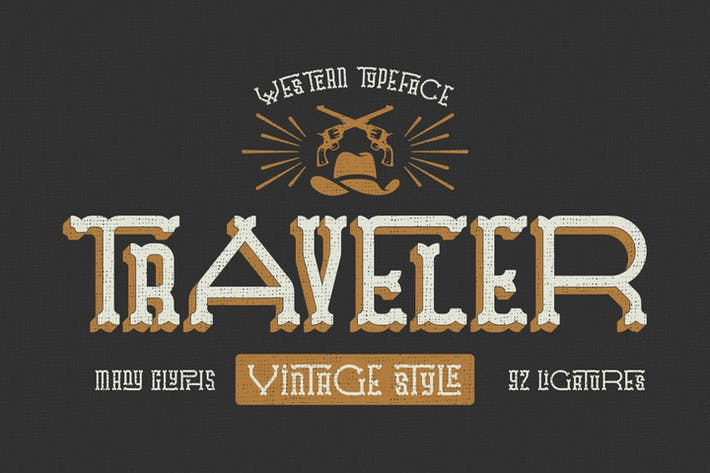 Thumbnail for Traveler typeface