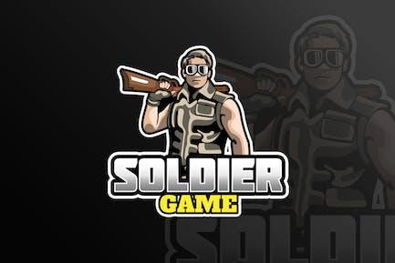 Soldier Mascot & eSports Gaming Logo