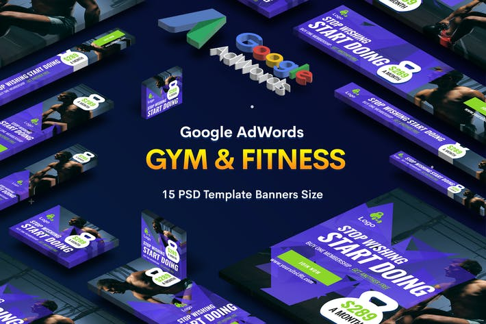 Thumbnail for Gym & Fitness Banners Ad