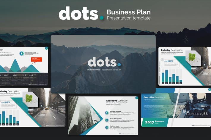 Cover Image For dots. - Business Plan PowerPoint Template