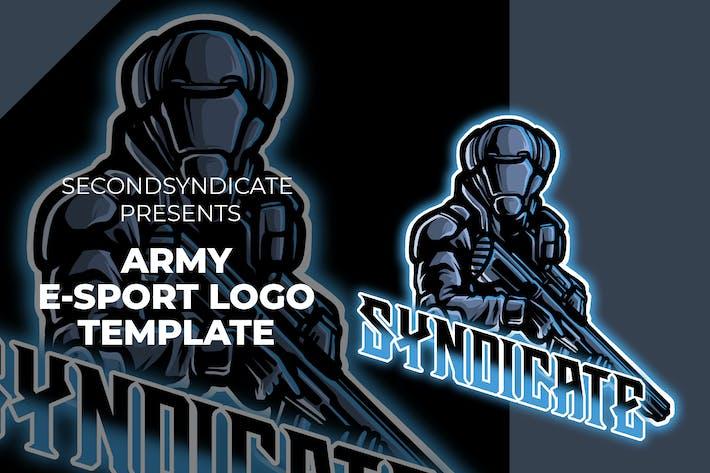 Thumbnail for Army Esport Logo Template