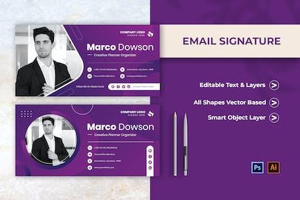 Creative Planner Email Signature