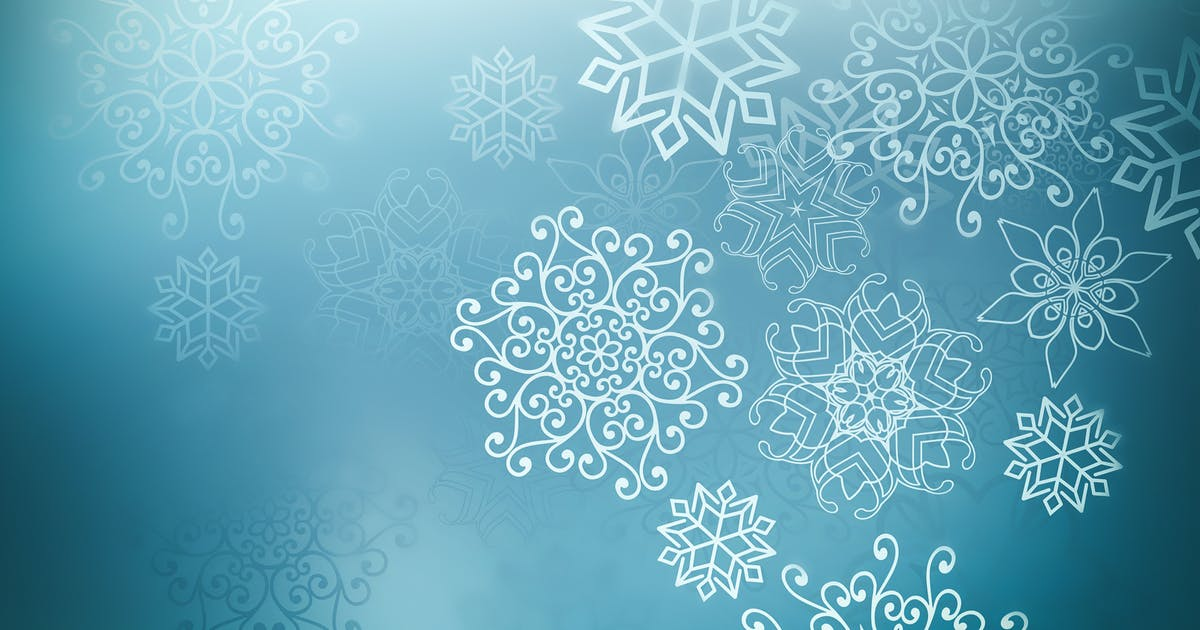 Download Blue winter background with snowflakes by Zffoto