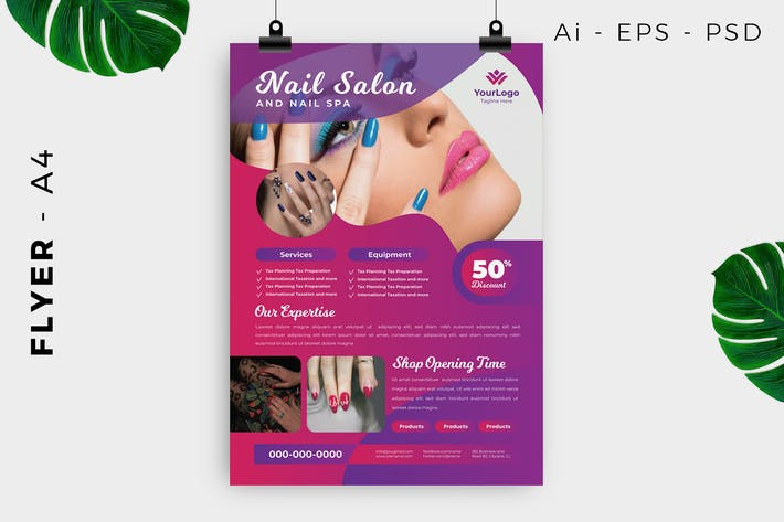 Nail Salon Spa Flyer