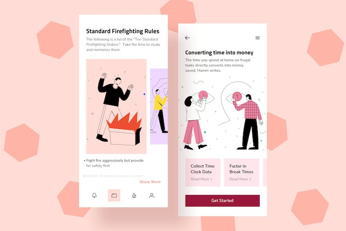 Thumbnail for Safety Mobile Interface Illustrations