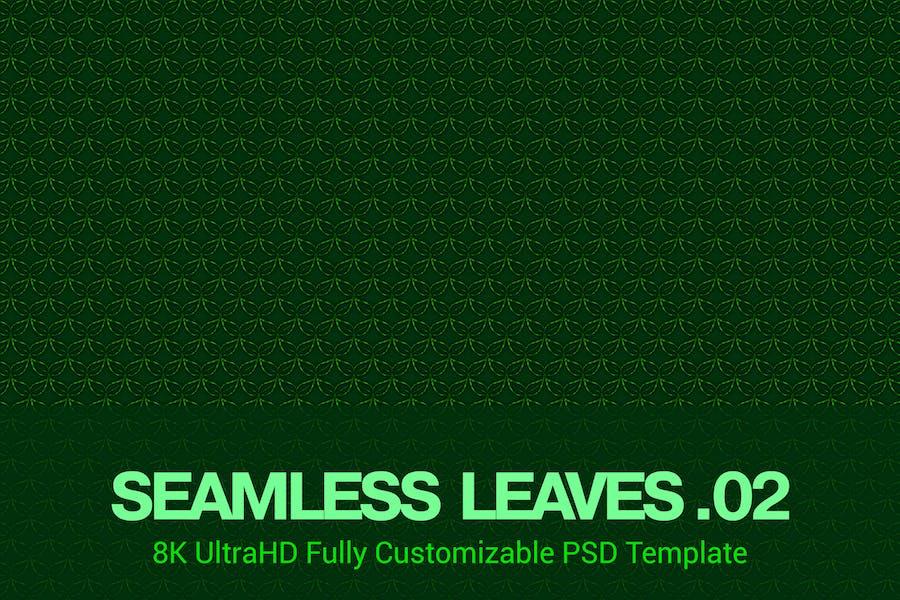 8K UltraHD Seamless Leaves Pattern Background