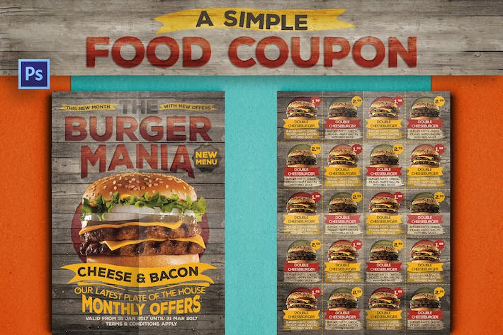 Thumbnail for Rustic Fast Food Coupon