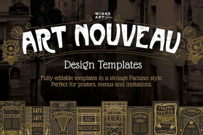 Thumbnail for Art Nouveau Poster Templates