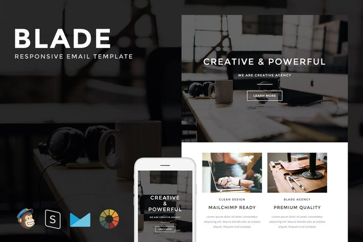 Thumbnail for Blade - Responsive Email + StampReady Builder