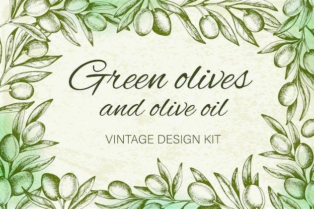 Vintage Olives and Olive Oil
