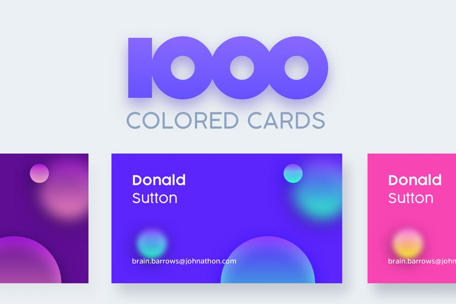 1000 Colored Business Cards