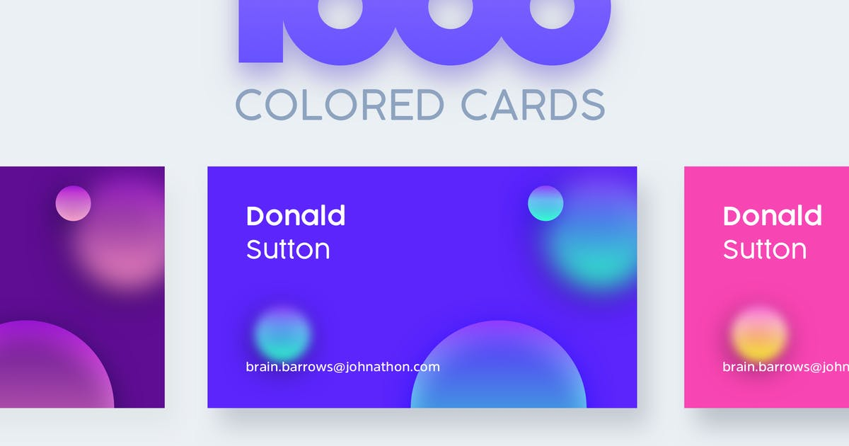 Download 1000 Colored Business Cards by cerpow