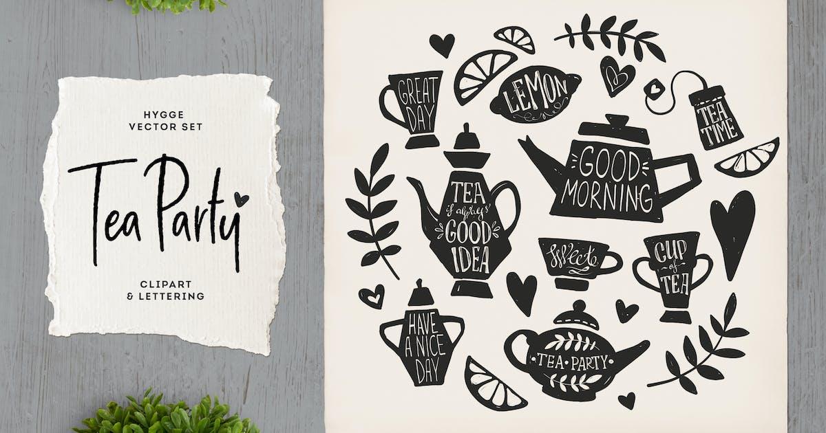 Download Tea Party Clipart & Lettering by hellokisdottir