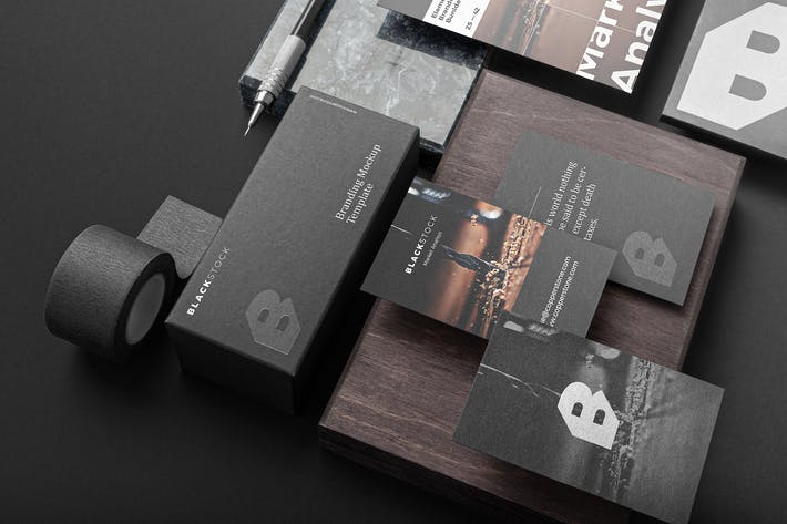 Thumbnail for Blackstone Branding Mockup Vol. 1