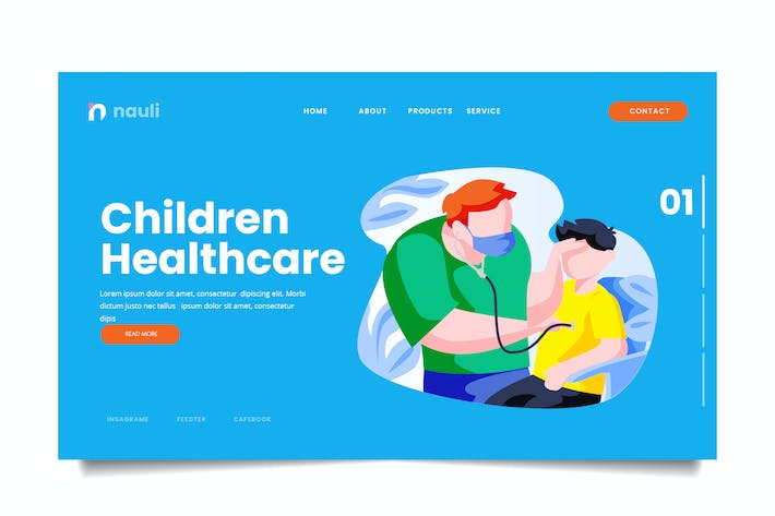 Thumbnail for Children Healthcare Web Header PSD and AI Vector