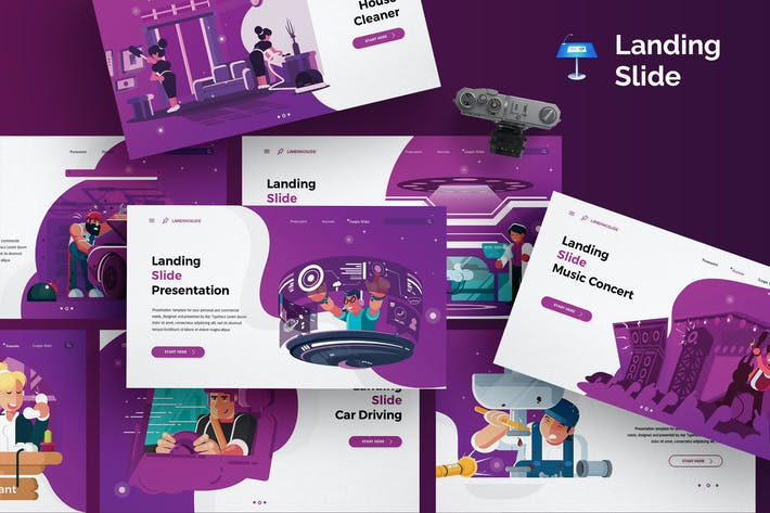 Thumbnail for Landing Slide - Keynote Template
