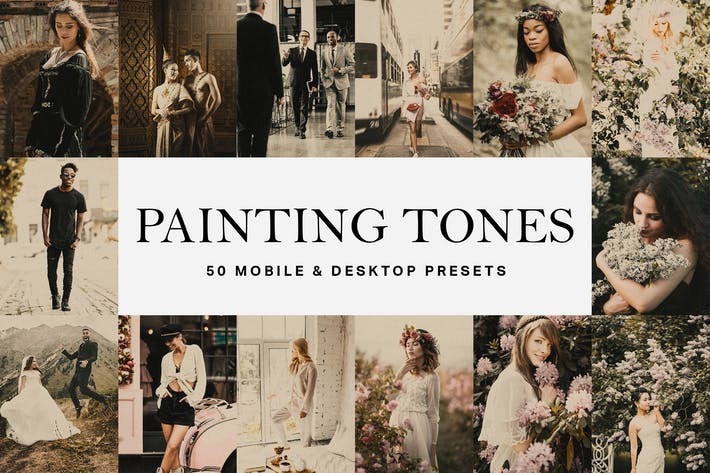 Thumbnail for 50 Painting Tones Lightroom Presets and LUTs