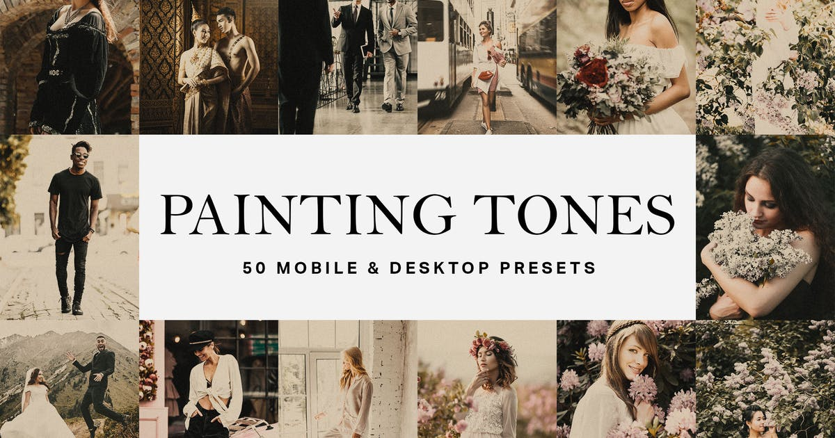 Download 50 Painting Tones Lightroom Presets and LUTs by sparklestock