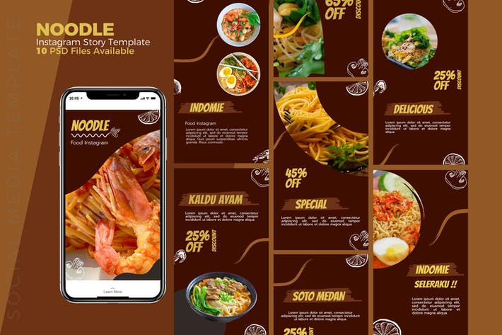 Thumbnail for Noodles - Food Instagram story Template