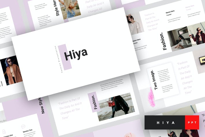 Thumbnail for Hiya - Fashion PowerPoint Template