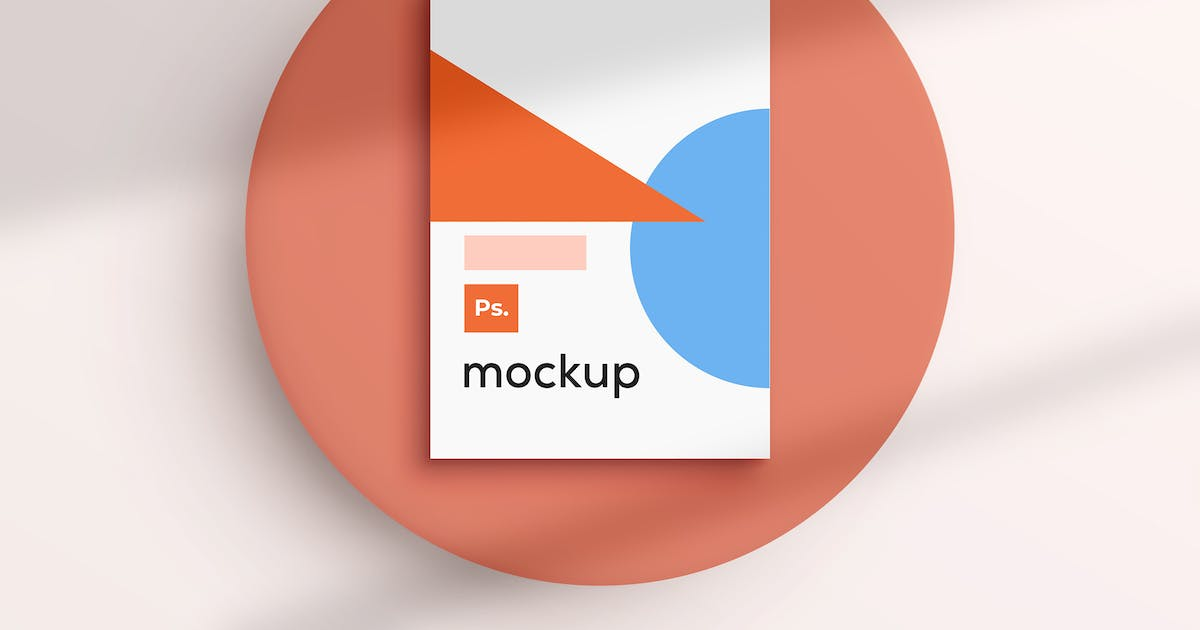 Download Poster Mockup on White Wall by sagesmask