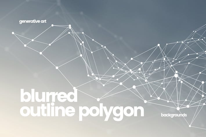 Cover Image For Outline Polygon with Connected Dots Backgrounds