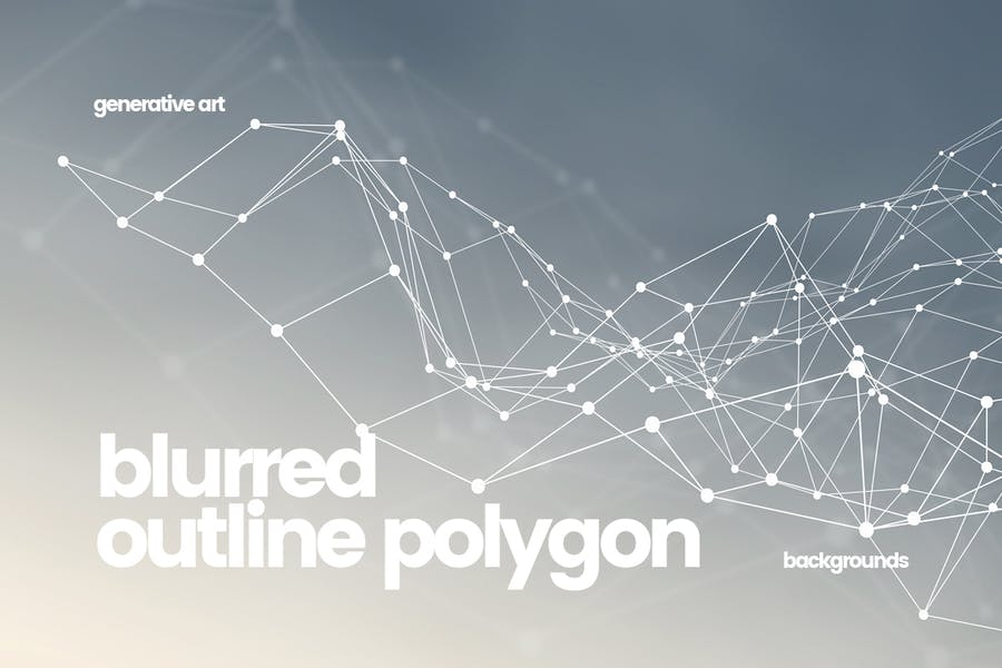 Outline Polygon with Connected Dots Backgrounds