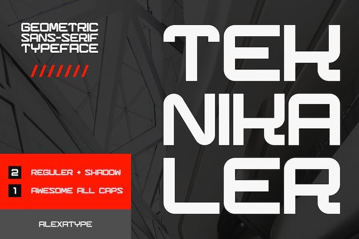 Thumbnail for Teknikaler - Geometric Sans Serif Font