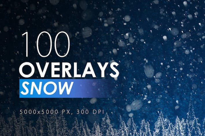 Thumbnail for 100 Schnee-Overlays