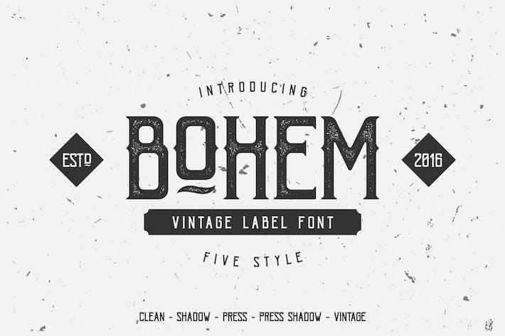 Thumbnail for Bohem Typeface - 5 Font Styles