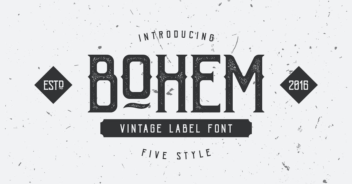 Bohem Typeface - 5 Font Styles by DikasStudio