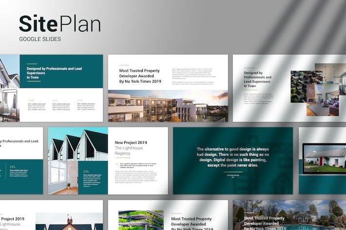 Thumbnail for План сайта - Современный Шаблон слайдов Google