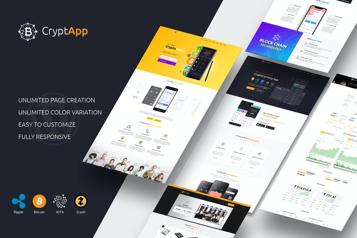 Thumbnail for CryptApp Landing Page - Cryptocurrency  Page