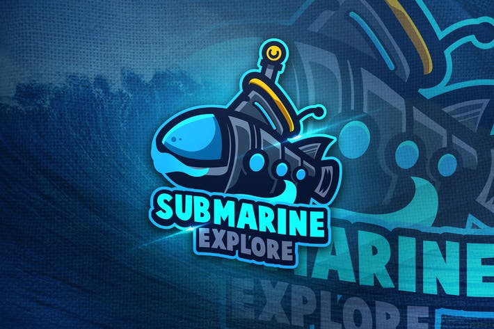 Thumbnail for Submarine Explore - Mascot & Sport Logo