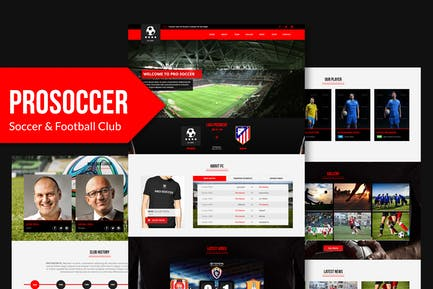 Pro Soccer - Шаблон Музы для футбола и футбола