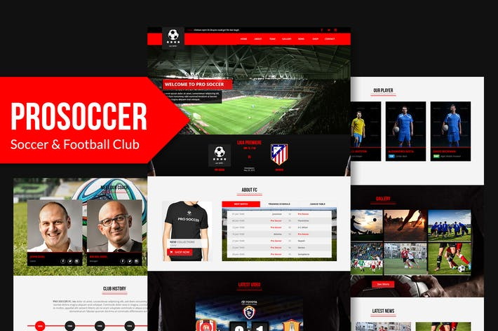 Thumbnail for Pro Soccer - Football & Soccer Club Muse Template