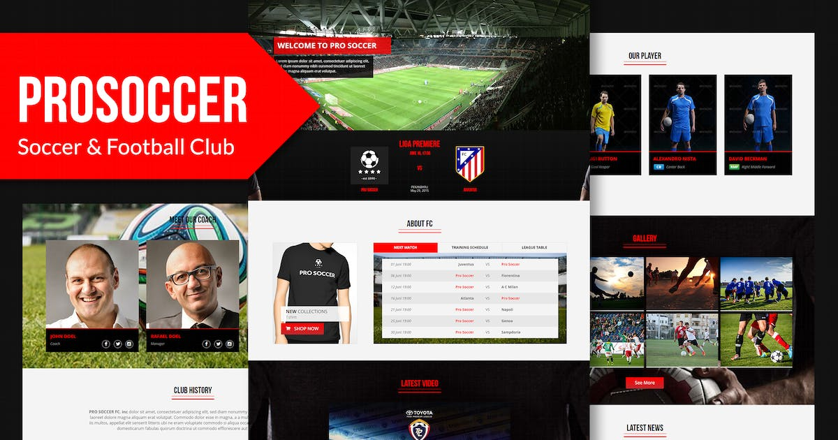 Download Pro Soccer - Football & Soccer Muse Template YR by Rometheme