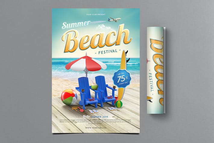 Thumbnail for Summer Beach Festival Flyer