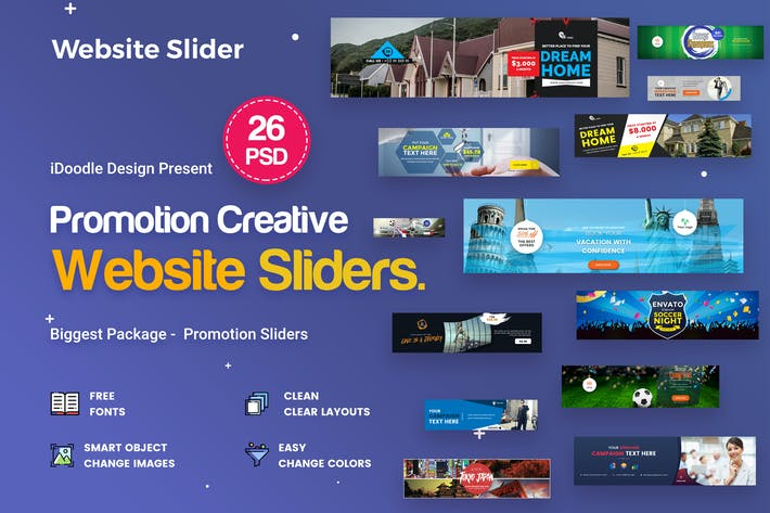 Thumbnail for Promotion Sliders - 26 PSD