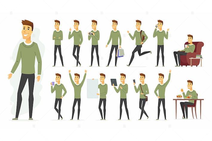 Thumbnail for Cute man - vector cartoon people character set