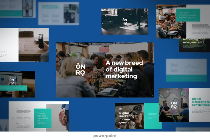 Thumbnail for Onro - Digital Marketing Powerpoint-Vorlage